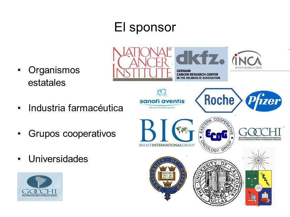 El sponsor Organismos estatales Industria farmacéutica