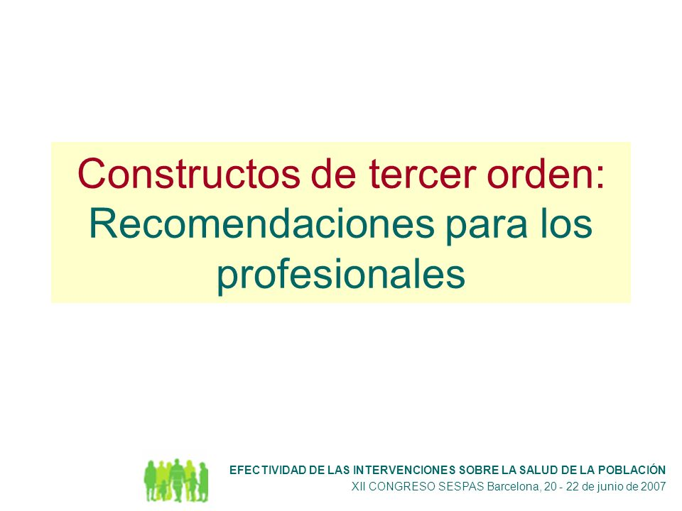 Constructos de tercer orden: Recomendaciones para los profesionales