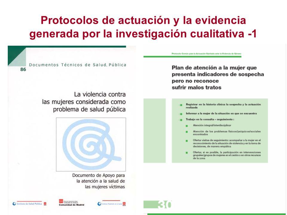 Protocolos de actuación y la evidencia generada por la investigación cualitativa -1