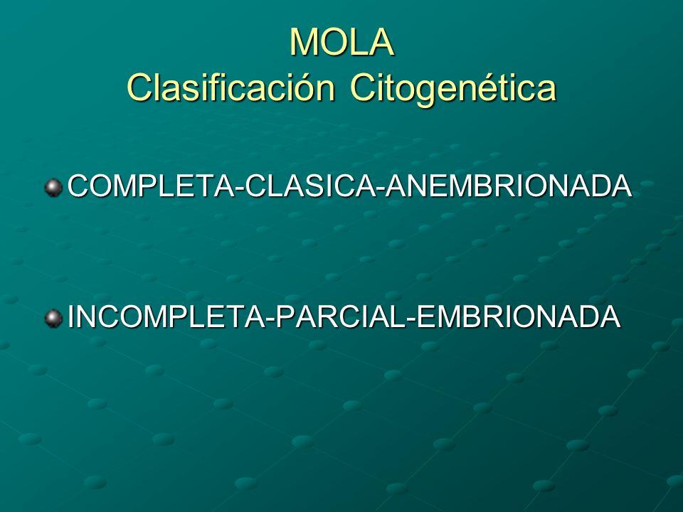 MOLA Clasificación Citogenética