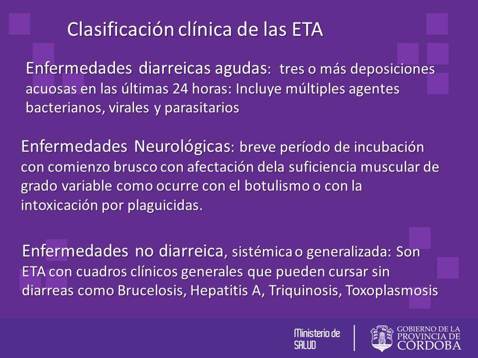 Clasificación clínica de las ETA