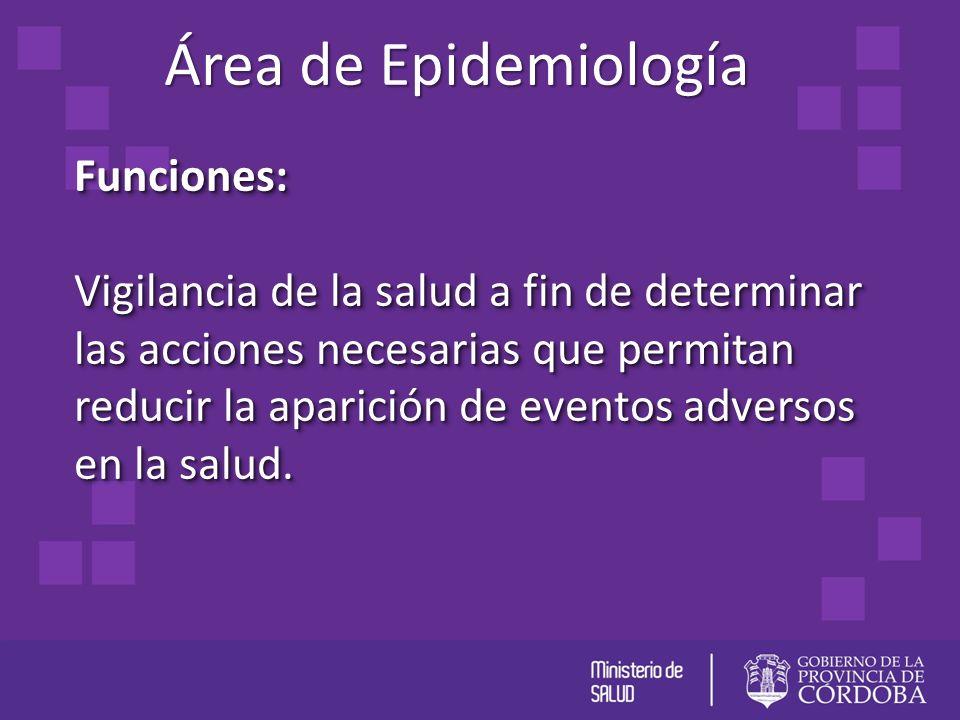 Área de Epidemiología Funciones: