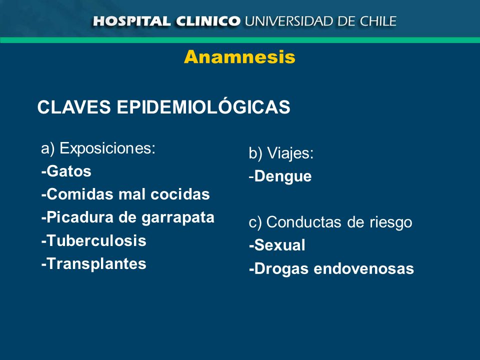 CLAVES EPIDEMIOLÓGICAS