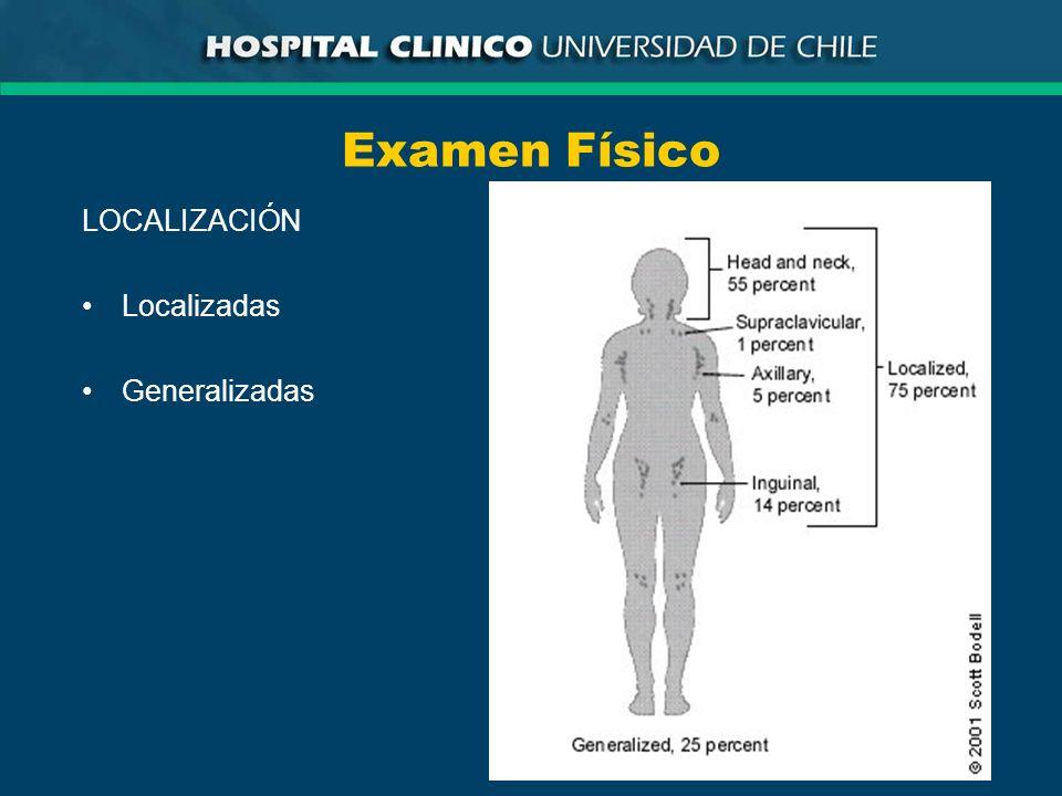Examen Físico LOCALIZACIÓN Localizadas Generalizadas