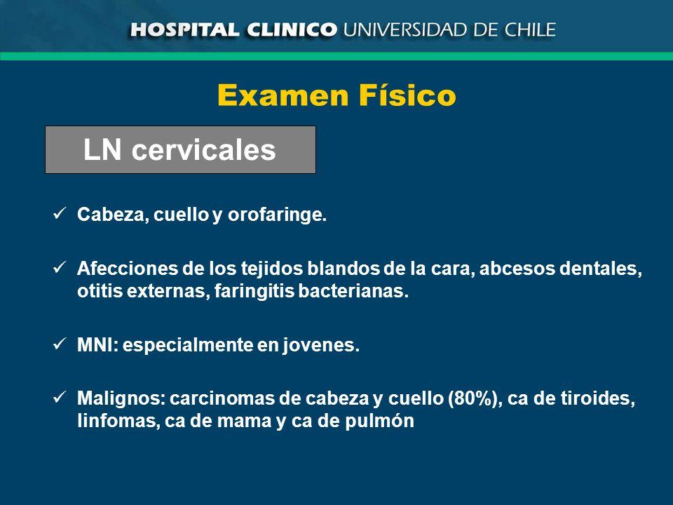 Examen Físico LN cervicales Cabeza, cuello y orofaringe.