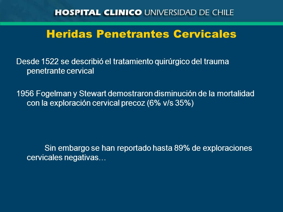 Heridas Penetrantes Cervicales