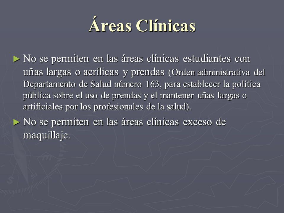 Áreas Clínicas