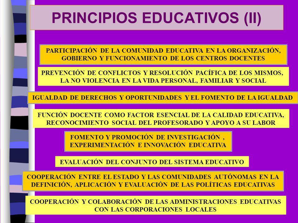 PRINCIPIOS EDUCATIVOS (II)