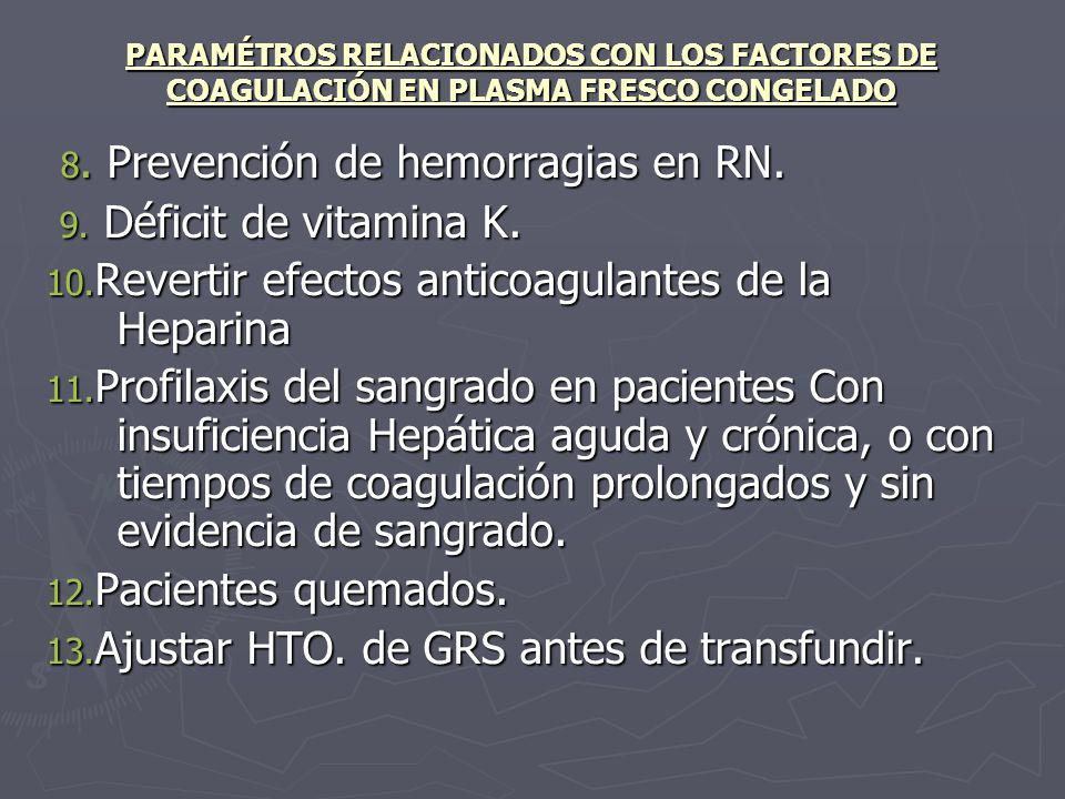 8. Prevención de hemorragias en RN.