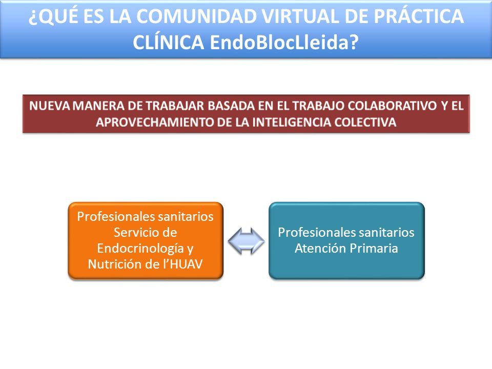 ¿QUÉ ES LA COMUNIDAD VIRTUAL DE PRÁCTICA CLÍNICA EndoBlocLleida