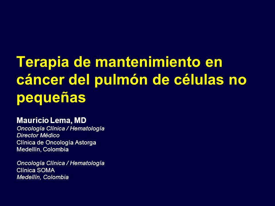 Terapia de mantenimiento en cáncer del pulmón de células no pequeñas