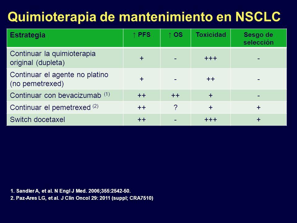 Quimioterapia de mantenimiento en NSCLC