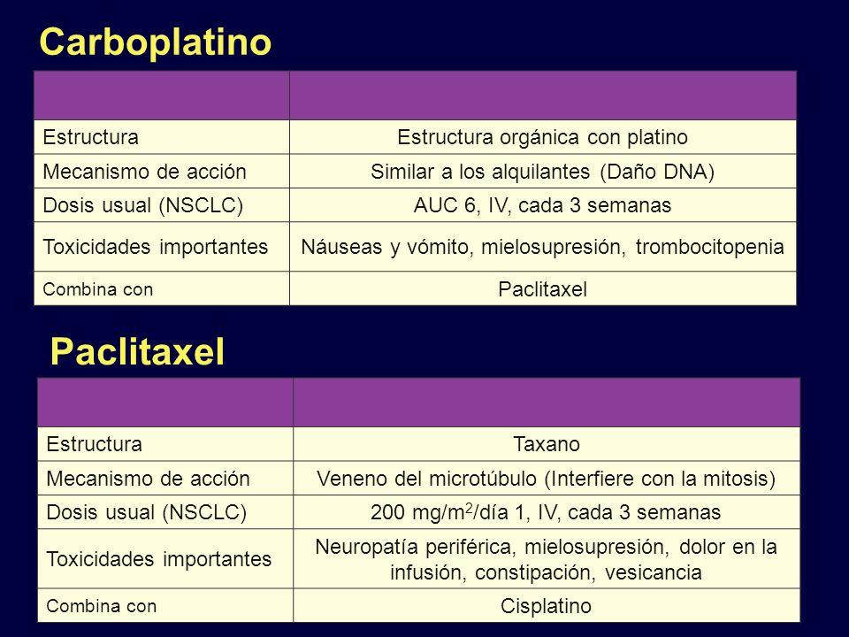 Carboplatino Paclitaxel Estructura Estructura orgánica con platino