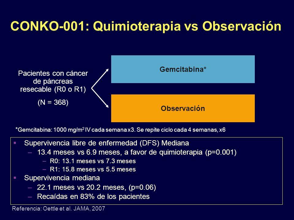 CONKO-001: Quimioterapia vs Observación