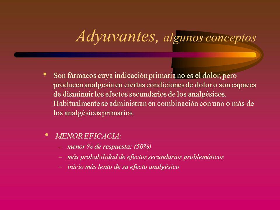 Adyuvantes, algunos conceptos