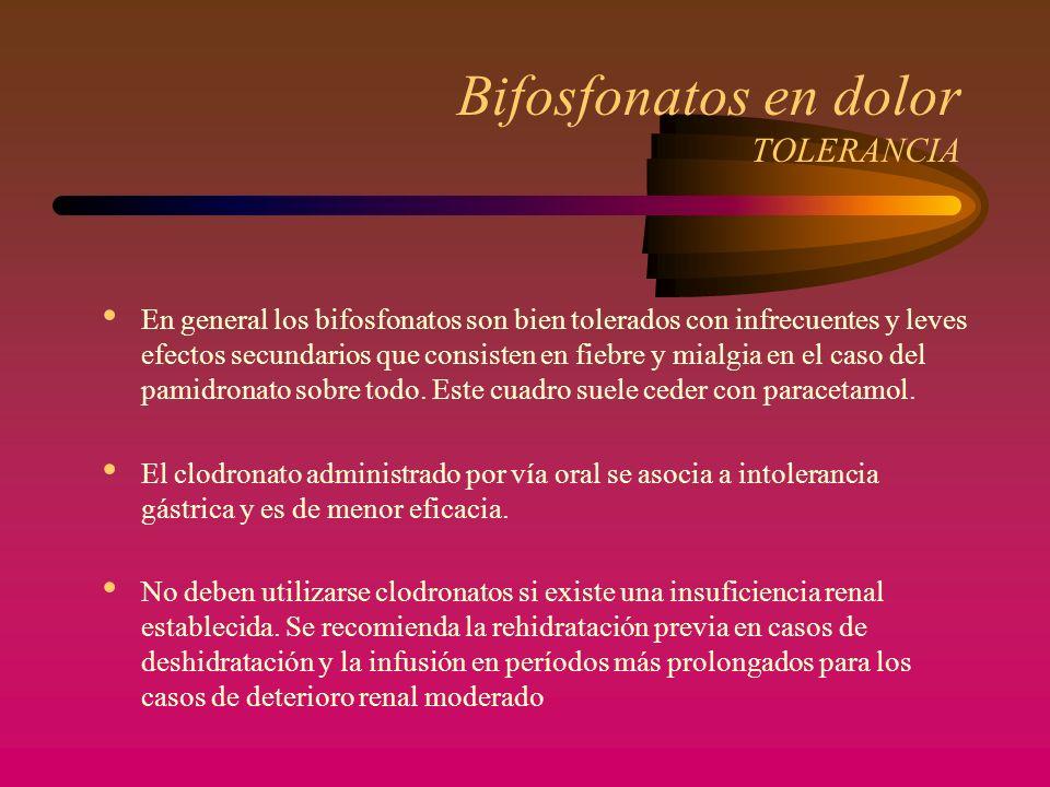 Bifosfonatos en dolor TOLERANCIA