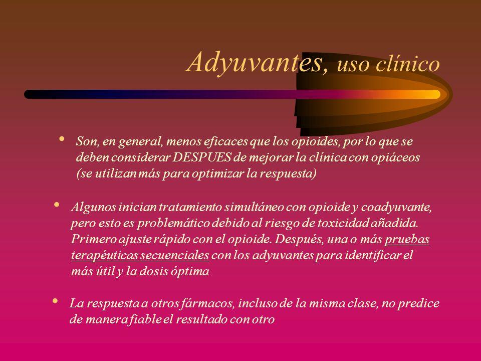 Adyuvantes, uso clínico
