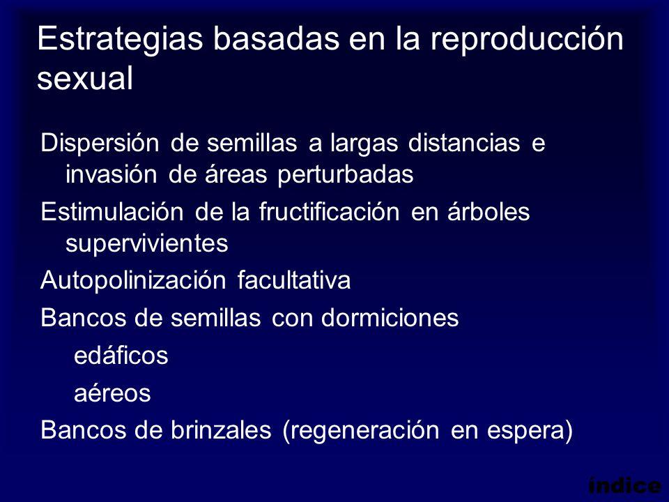 Estrategias basadas en la reproducción sexual