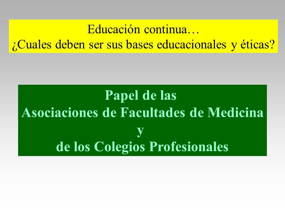 Asociaciones de Facultades de Medicina de los Colegios Profesionales