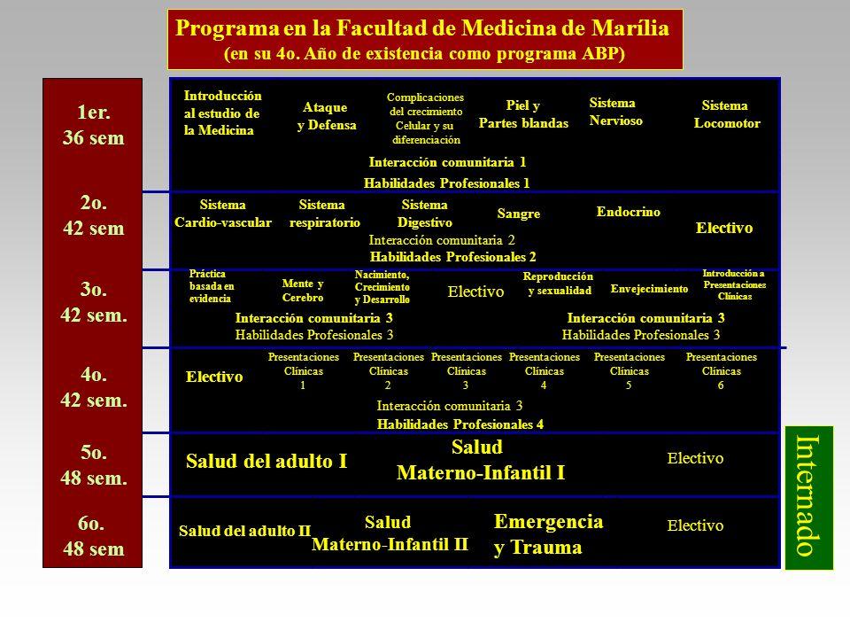 Internado Programa en la Facultad de Medicina de Marília 1er. 36 sem