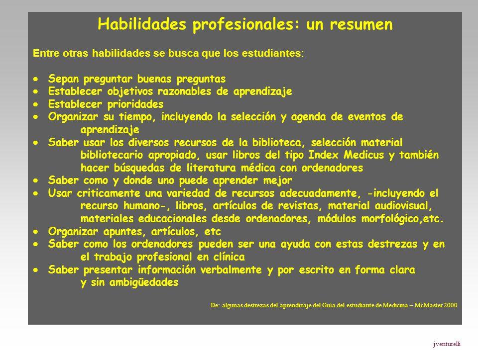 Habilidades profesionales: un resumen