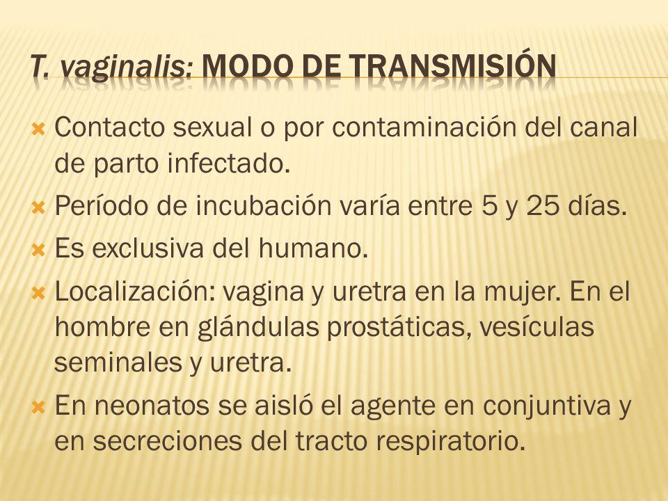 T. vaginalis: Modo de transmisión