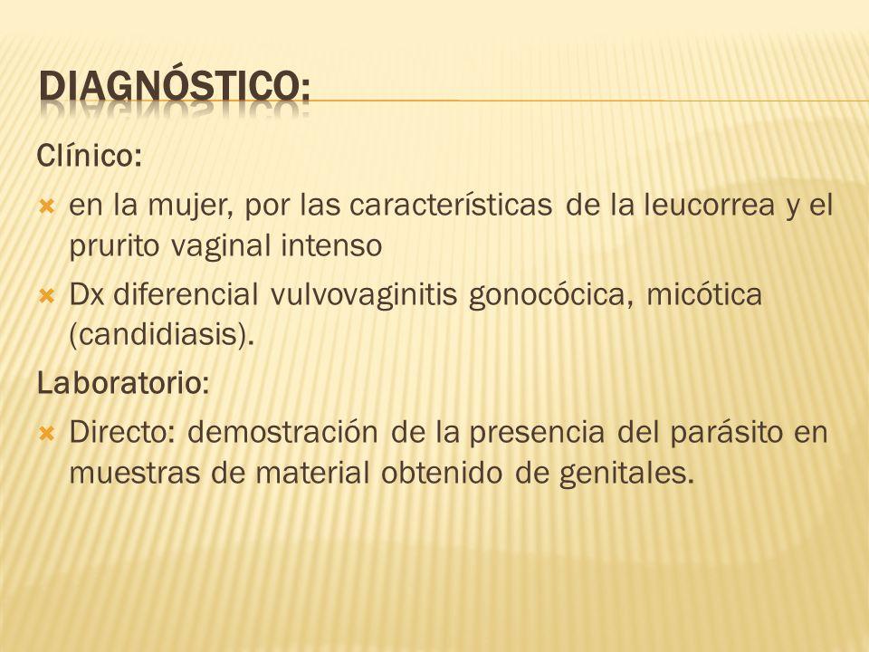 Diagnóstico: Clínico: