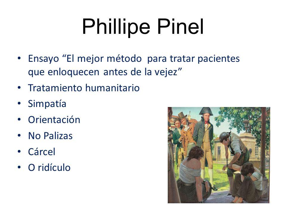Phillipe Pinel Ensayo El mejor método para tratar pacientes que enloquecen antes de la vejez Tratamiento humanitario.
