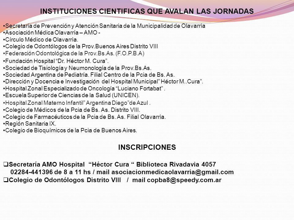 INSTITUCIONES CIENTIFICAS QUE AVALAN LAS JORNADAS