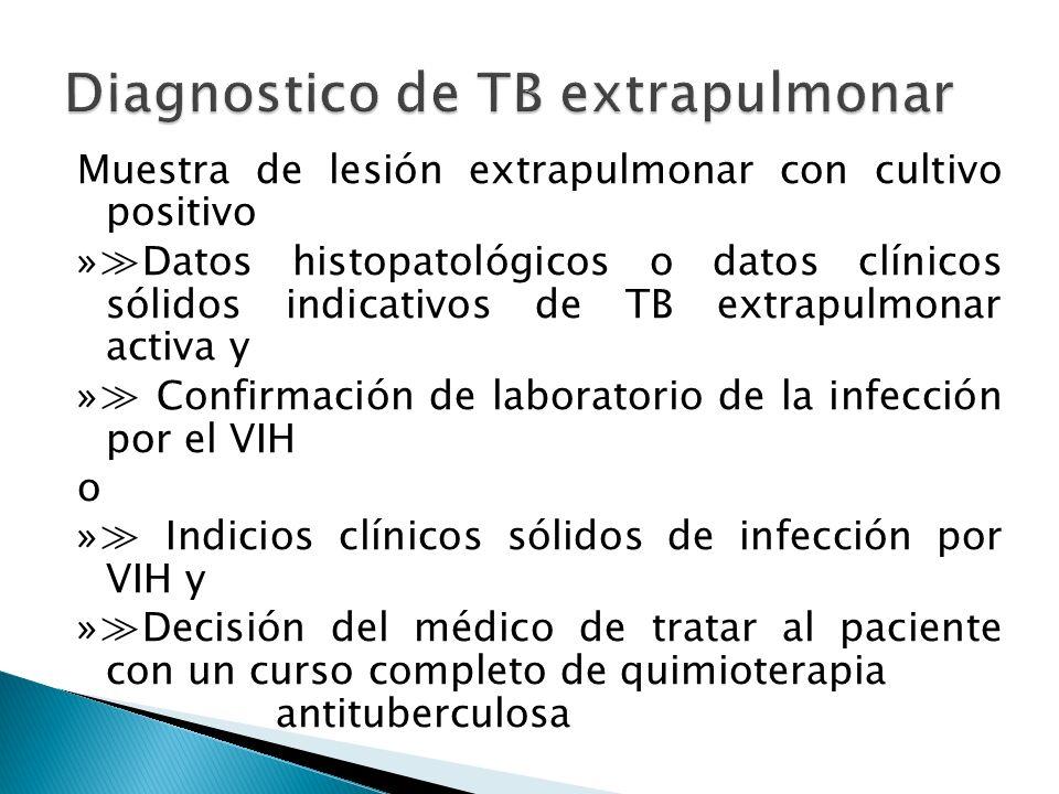 Diagnostico de TB extrapulmonar