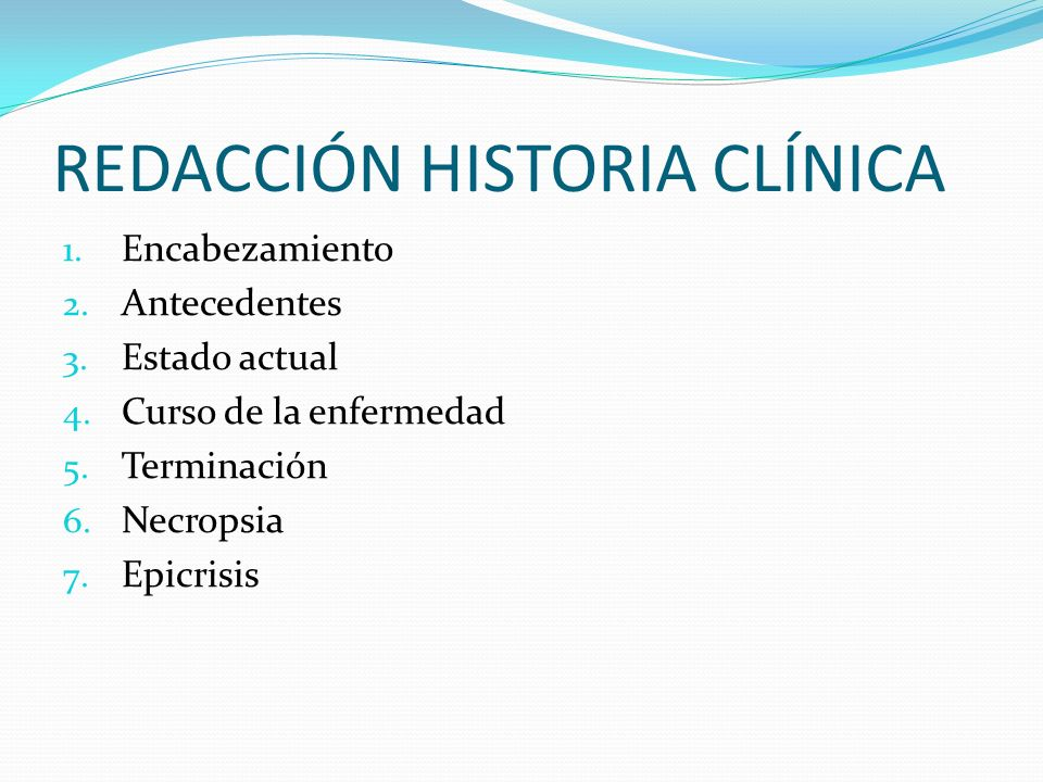 REDACCIÓN HISTORIA CLÍNICA