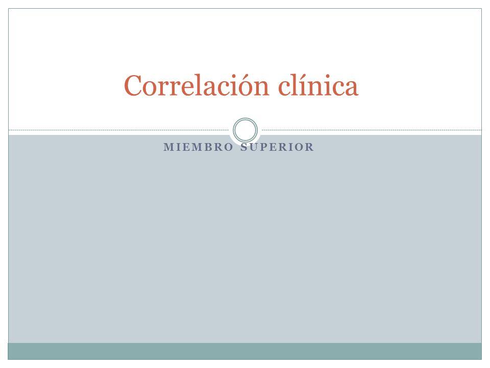 Correlación clínica Miembro superior