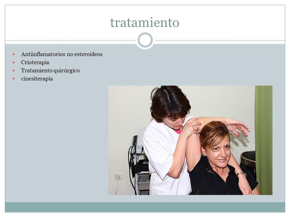 tratamiento Antiinflamatorios no esteroideos Crioterapia