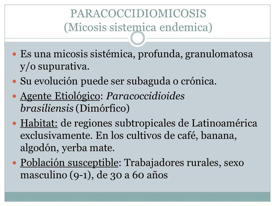 PARACOCCIDIOMICOSIS (Micosis sistemica endemica)
