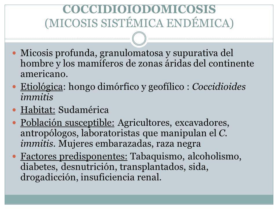 COCCIDIOIODOMICOSIS (MICOSIS SISTÉMICA ENDÉMICA)