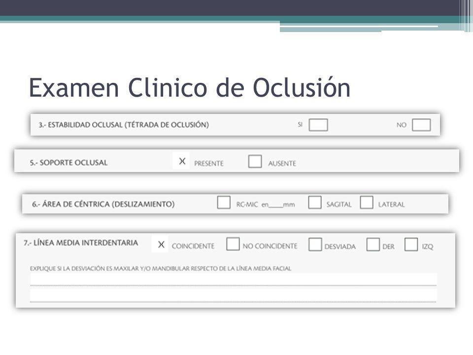 Examen Clinico de Oclusión