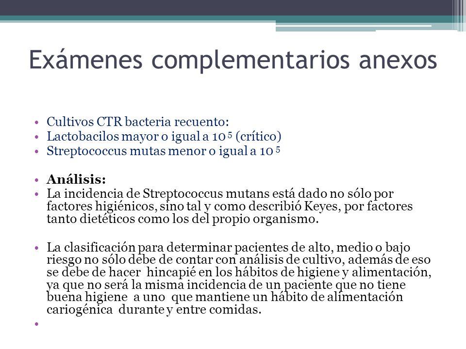 Exámenes complementarios anexos
