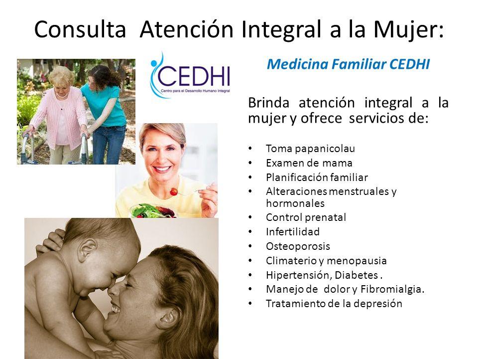 Consulta Atención Integral a la Mujer: