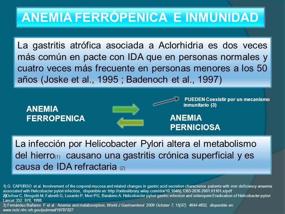 ANEMIA FERRÓPENICA E INMUNIDAD