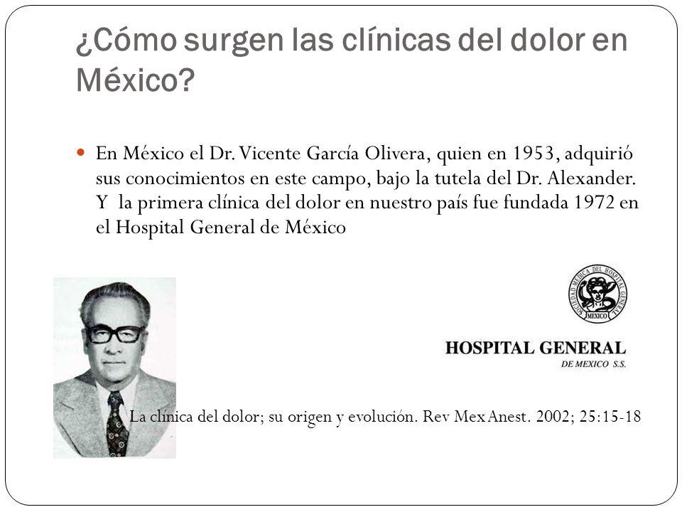 ¿Cómo surgen las clínicas del dolor en México