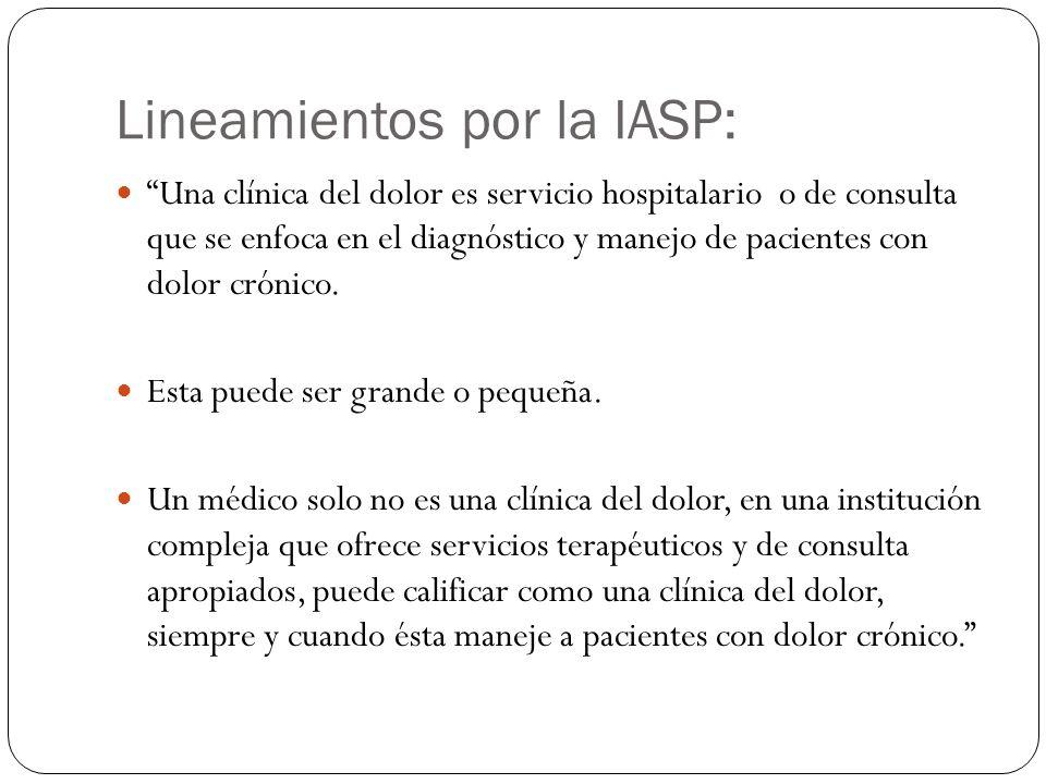 Lineamientos por la IASP: