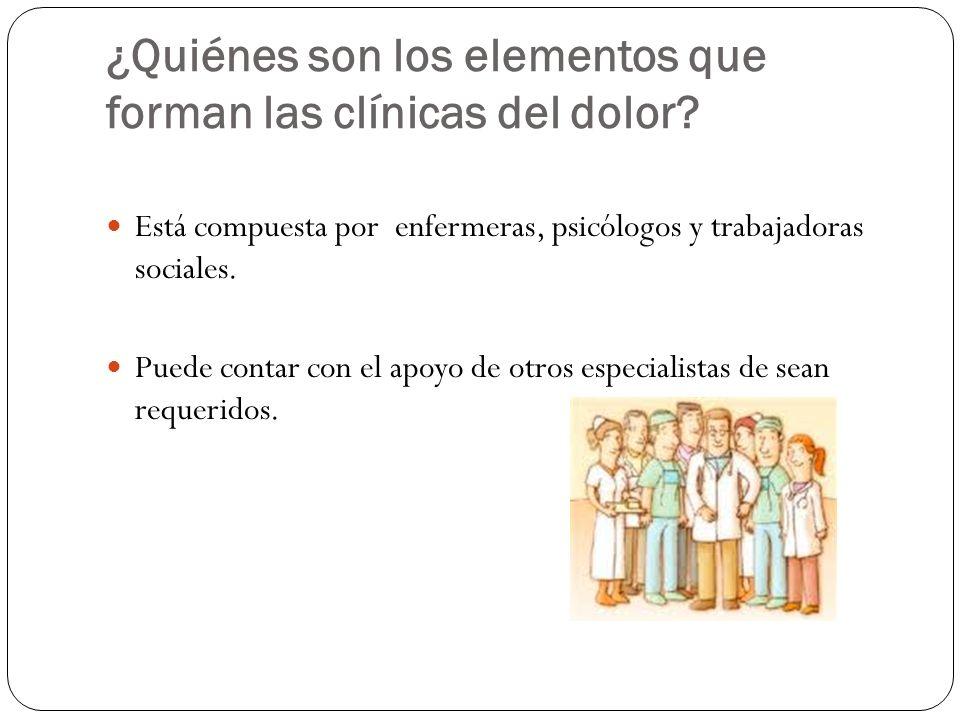 ¿Quiénes son los elementos que forman las clínicas del dolor