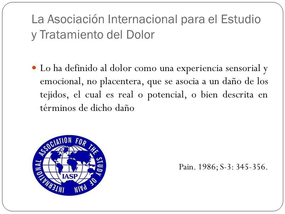 La Asociación Internacional para el Estudio y Tratamiento del Dolor