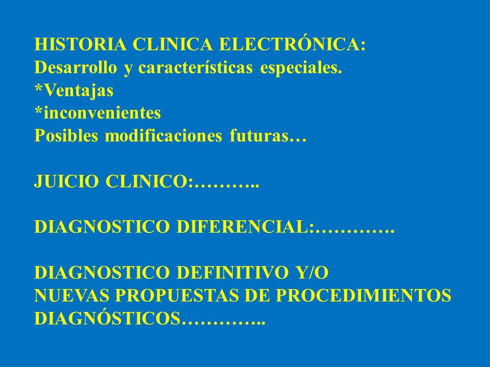 HISTORIA CLINICA ELECTRÓNICA: