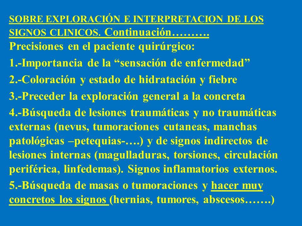 Precisiones en el paciente quirúrgico: