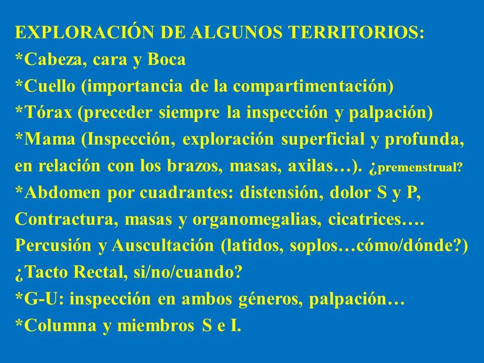 EXPLORACIÓN DE ALGUNOS TERRITORIOS: