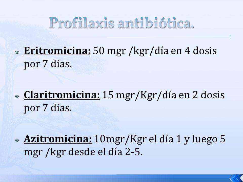 Profilaxis antibiótica.
