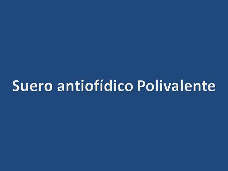 Suero antiofídico Polivalente