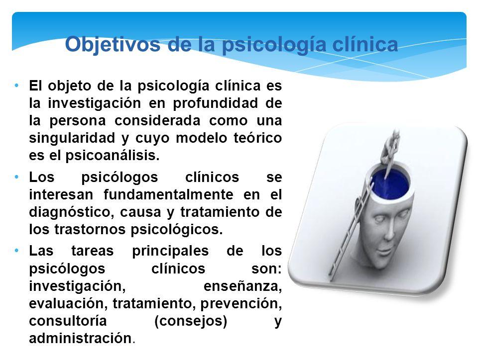 Objetivos de la psicología clínica