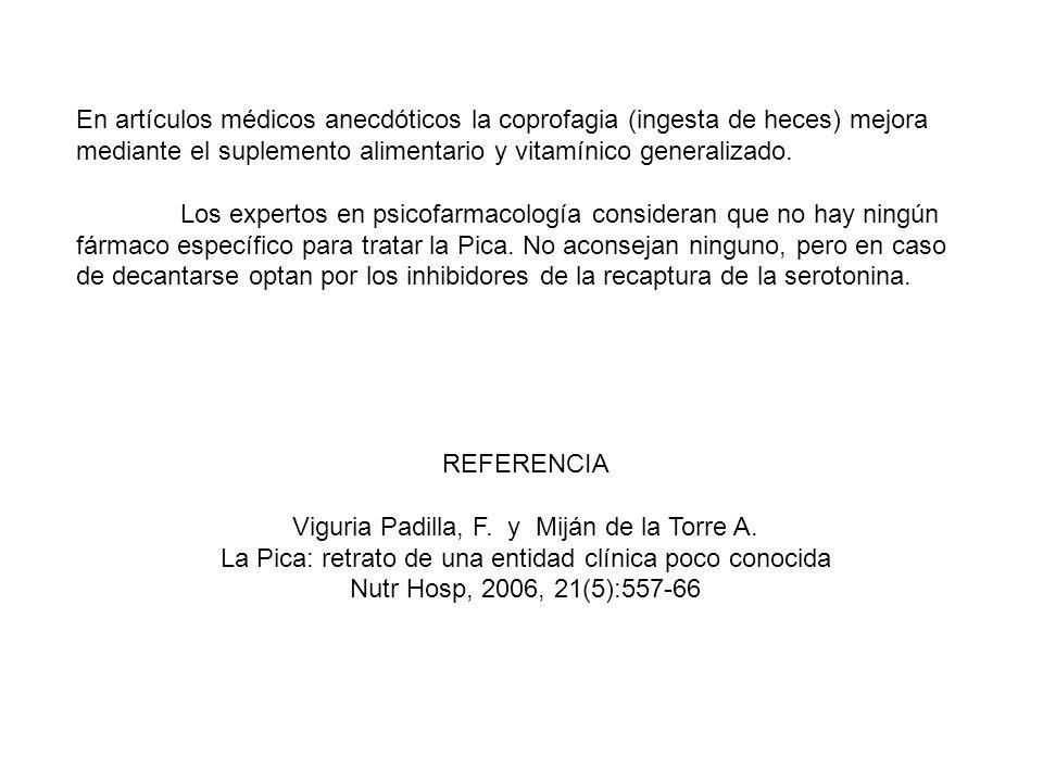 Viguria Padilla, F. y Miján de la Torre A.